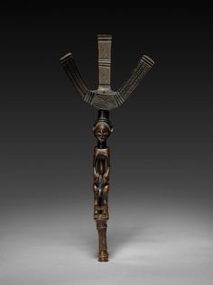 Bow Stand African American Artist, American Artists, African Art, Norman Lewis, Art In The Age, Wooden Bow, Dramatic Lighting, Cleveland Museum Of Art, Plant Fibres