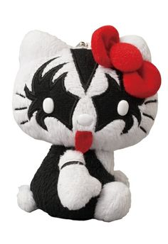 "Toy067 ""Kiss x Hello Kitty Plush - The Demon"" by Sanrio from Medicom Toy (2012) #Toy"