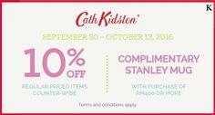 30 Sep-13 Oct 2016: Isetan Cath Kidston Special Promotion