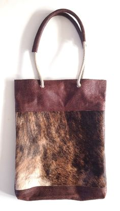 Shopper Touwhengsel brown Tiger Handmade Leather Dutch Bags