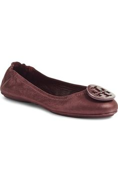 Tory Burch 'Minnie' Travel Ballet Flat (Women) available at #Nordstrom