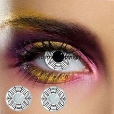 Contact lens black-and-white lens vampire daemon-halloween-lens-party-contact…