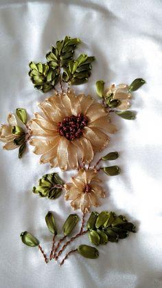 silk ribbon embroidery kits for beginners silk ribbon embroidery kit Ribbon Embroidery Tutorial, Ribbon Flower Tutorial, Hand Embroidery Flowers, Flower Embroidery Designs, Hand Embroidery Stitches, Silk Ribbon Embroidery, Embroidery Kits, Embroidery Supplies, Ribbon Sewing