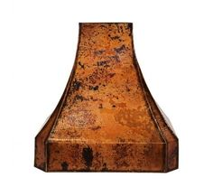 Shop Classic Copper Range Hood from CopperSmith today. Browse our full catalog of premium copper products online. Rustic Kitchen Cabinets, Rustic Kitchen Design, Copper Kitchen, Kitchen Decor, Kitchen Ideas, Kitchen Vent Hood, Kitchen Appliances, Range Hoods, Messing