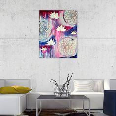Mandala Painting  Lotus Painting  Modern Art  by CorinnaMaggyArts