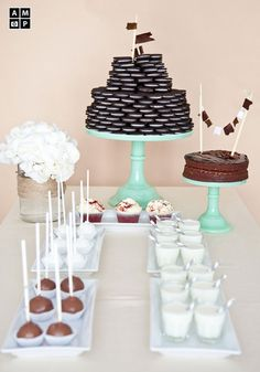 in love with the oreo tower cake
