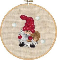 Julebilleder - Permin DK Embroidered Christmas Ornaments, Christmas Towels, Christmas Embroidery, Cross Stitch Designs, Cross Stitch Patterns, Cross Stitching, Cross Stitch Embroidery, Santa Cross Stitch, Christmas Cross