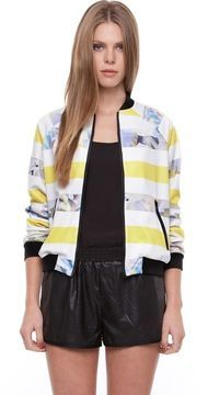 Staple the Label Crystal Stripe Bomber on shopstyle.com.au