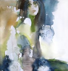 Spirit of Nature - watercolor on canvas