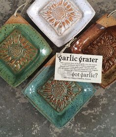 Garlic grater olive oil dipping dish gourmet by redhotpottery