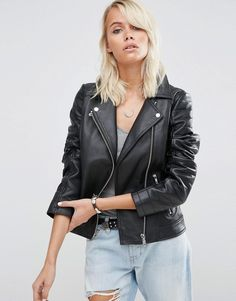 ASOS Ultimate Biker Jacket in Leather
