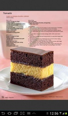 Lapis  surabaya Indonesian Desserts, Asian Desserts, Indonesian Food, Bolu Cake, Resep Cake, Snack Recipes, Dessert Recipes, Steamed Cake, Layer Cake Recipes