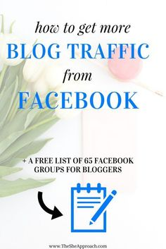 Strggling to get people to check out your blog or increase your blog traffic? I get 70% of my overall blog traffic from Facebook and this is how! Freebie: A list of 65 facebook groups for bloggers, business owners and entrepreneurs. Blogging tips, social media solutions and more on The She Approach.