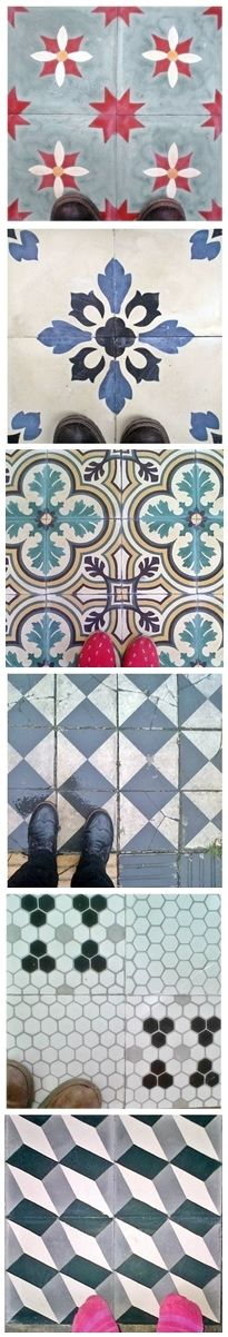 mosaicos hidráulicos de diseño cement tiles & great patterns! Cement Floors, Flooring, Am Meer, Tiling, Tile Design, Ideas Para, Kids Rugs, Design Ideas, Concept