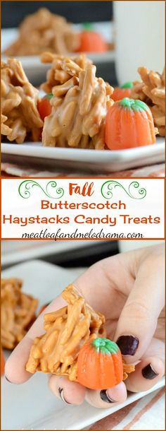 Butterscotch Haystacks Candy Treats are quick and easy to make and perfect for fall!l