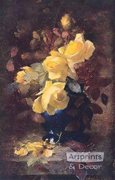 Roses - Frans Mortelmans - Art Print