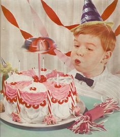 Vintage birthday cake  photo