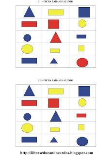 LIBRAS: Educandos Surdos: Bingo das Formas Geométricas