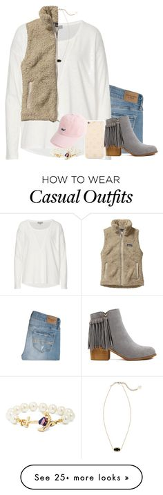 """casual fall//sydney"" by pumpkinsandprep on Polyvore featuring Abercrombie & Fitch, Betty Barclay, Kendra Scott, Kate Spade, Patagonia and Brooks Brothers"