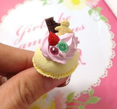 Sweet deco Ice Cream Strawberry Whip Cream Deco by SweetieTiny, $9.99