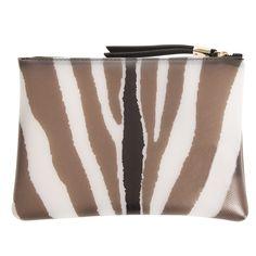 GUM Clutch im Zebra-Style in Braun/Weiß