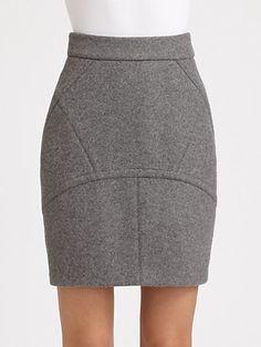 T by Alexander Wang - Paneled Neoprene Skirt - Saks.com