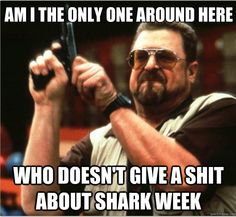 Let's pretend we all care about sharks for a week.
