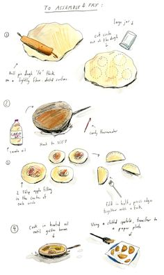 An illustrated recipe from the...   hand drawn bazaar