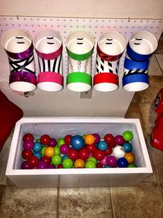 PVC Pipe Elbow ball shoots for toddler entertainment.