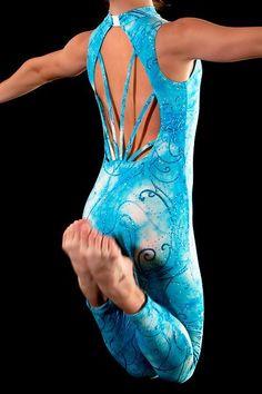 Tie-Dye Glitter Print Unitard. Dance Costume Jazz/Contemporary Ready to Ship