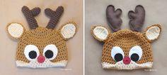Repeat Crafter Me: Crochet Reindeer Antlers Pattern...accompanying crochet antlers pattern that goes with Reindeer Hat pattern. Note.....Separate patterns.