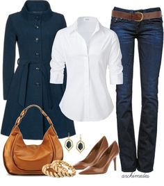 What's Your Favorite Color?....Blue and Brown - Polyvore