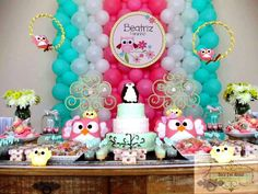 Project Nursery - Girl Owl First Birthday Party Paper Bags