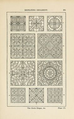 A handbook of ornament; by Meyer, Franz Sales, 1849, Plate 175