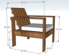 Ana White   Build a Simple Outdoor Lounge Chair   Free and Easy DIY Project and Furniture Plans