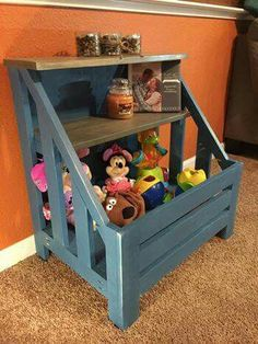 This is a great toy box made by Anna  White