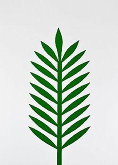 Feeling Tropical - Φύλλο Φοίνικα PVC Πράσινο σκούρο 43x18cm Plant Leaves, Plants, Plant, Planets