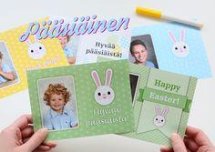 Pääsiäinen, pastellit ja puput. #pääsiäinen #kortti #pupu #kuvatuote #clickandmix #kuvaverkko © Kuvaverkko Oy