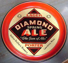 Diamond Spring Ale  serving tray