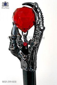 Cane mit nickel Ton mit rotem Kristall Viktorianischer Steampunk, Steampunk Clothing, Steampunk Fashion, Baroque Fashion, Dark Fashion, Black Suit Wedding, Wedding Frocks, Fancy Suit, Frock Coat