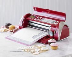 Create professional-looking cakes, cupcakes, cookies is as easy as pushing a button, thanks to the Cricut Cake Decorating Machine.