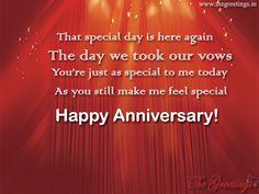 #onyourspecialday #weddingday #weddinganniversary Marriage Anniversary Quotes, Happy Anniversary, Wedding Anniversary, Wedding Day, Feeling Special, Vows, Special Day, Feelings, Happy Brithday
