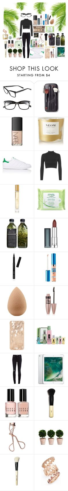 """""""Jungle! #154"""" by lauren-yarrow ❤ liked on Polyvore featuring Bobbi Brown Cosmetics, NARS Cosmetics, NEOM Organics, adidas, WearAll, Burberry, Simple, Maybelline, beautyblender and Clinique"""