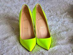 Neon yellow green Christian Louboutins