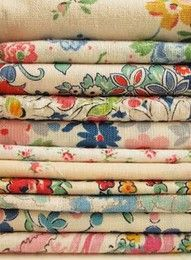 More pretty floral prints - I believe the fabric is from old chicken feed or flour sacks.