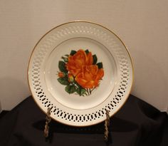 Vintage 1979 Bing & Grondahl Alexandria Rose Plate, Collector's Plate, The Danbury Mint Limited Edition, Rose Plate, Wall Plate (C080) by vintagekitchenhome on Etsy