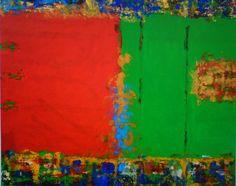 """""""Beijo bem melado""""120x150 cm  acrilica/linho 2006"""