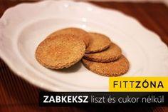 Recept: zabkeksz liszt és cukor nélkül - FittZona.hu Biscotti, Gluten Free, Sweets, Cookies, Paleo, Breakfast, Health, Recipes, Advent