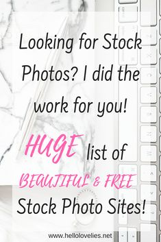 Stop spending hours looking through stock photo sites that dissapoint. I already did that and compiled some great ones with beautiful, quality Images for FREE!!!! #stockphotos #blogger #blogging #blogtips #branding