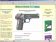 FN 1900 Browning pistol explained - downloadable at HLebooks.com